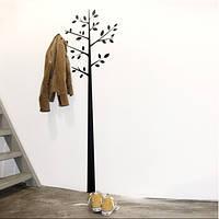 Вешалка Дерево - Виниловая наклейка с крючками