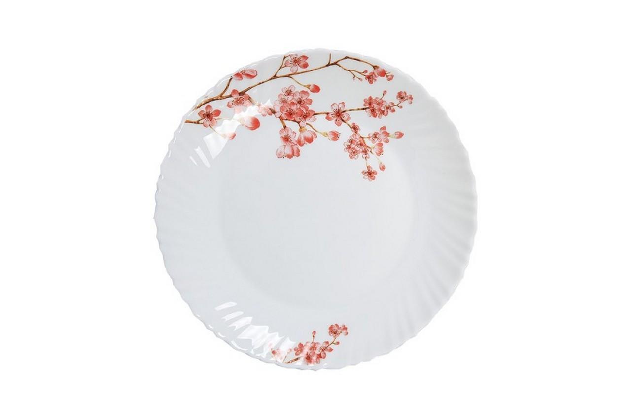 "Тарелка жар-стекло Maestro - 187 мм ""розовые цветы"""