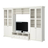 "IKEA ""ЛИАТОРП"" Шкаф для ТВ, комбинация, белый"