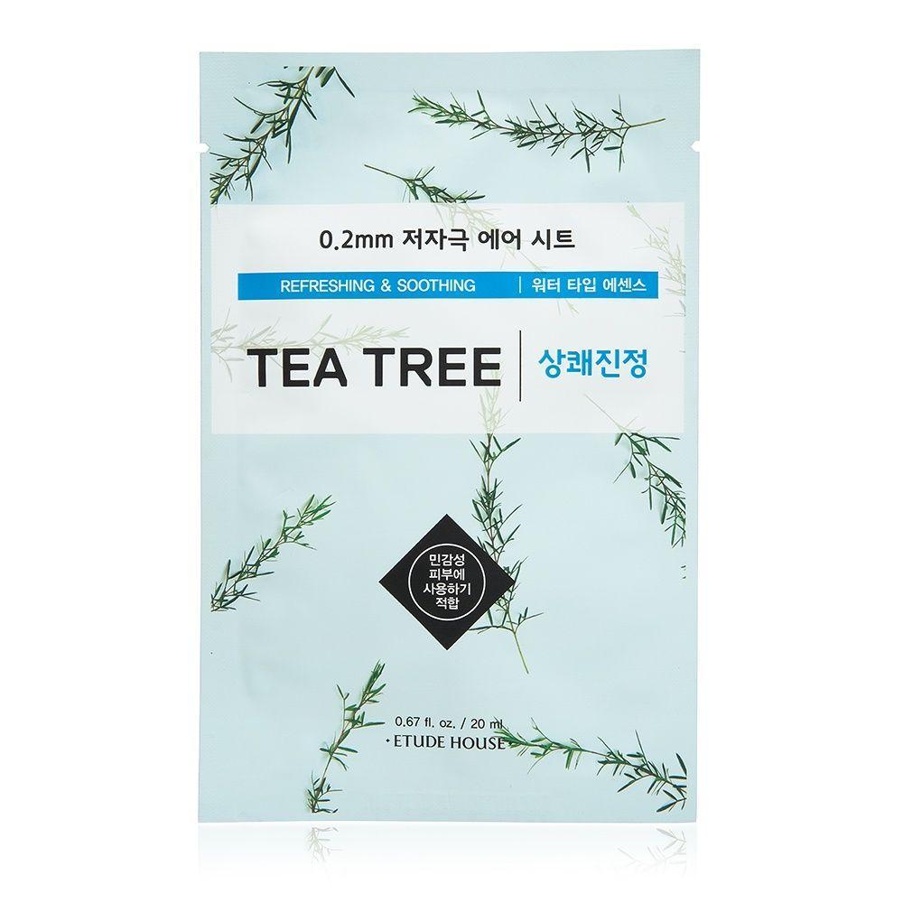 Тканевая маска для лица Etude House Therapy air mask 0,2mm Чайное дерево