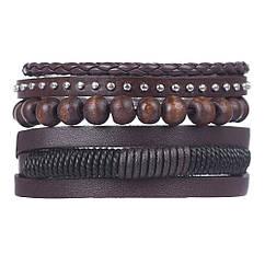 Комплект браслетів зі шкіри - Бартон