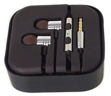 Навушники вакуумні з мікрофоном MDR M2, срібло
