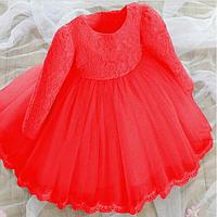 """Платье нарядное детское """"KEAIYOUHUO"""" красное"""