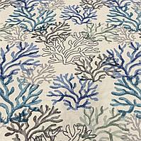 Декоративная ткань с пропиткой от загрязнений с рисунком в морской тематике, фото 1