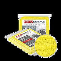 Салфетки из микрофибры универсальные желтые 38х38 3 шт PRO Service Professional