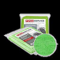 Салфетки из микрофибры универсальные зеленые 38х38 3 шт PRO Service Professional