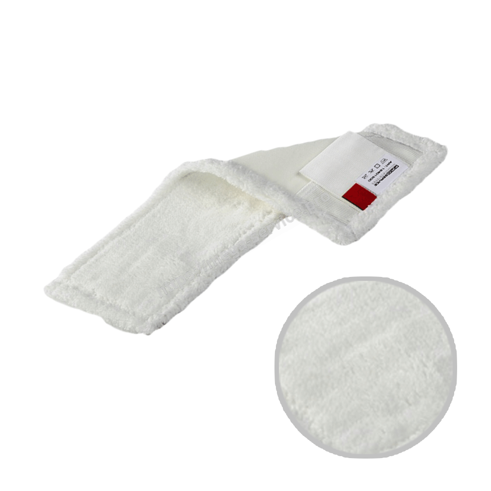 Моп плоский из микрофибры карманы / ленты насадка на швабру 40х13 см