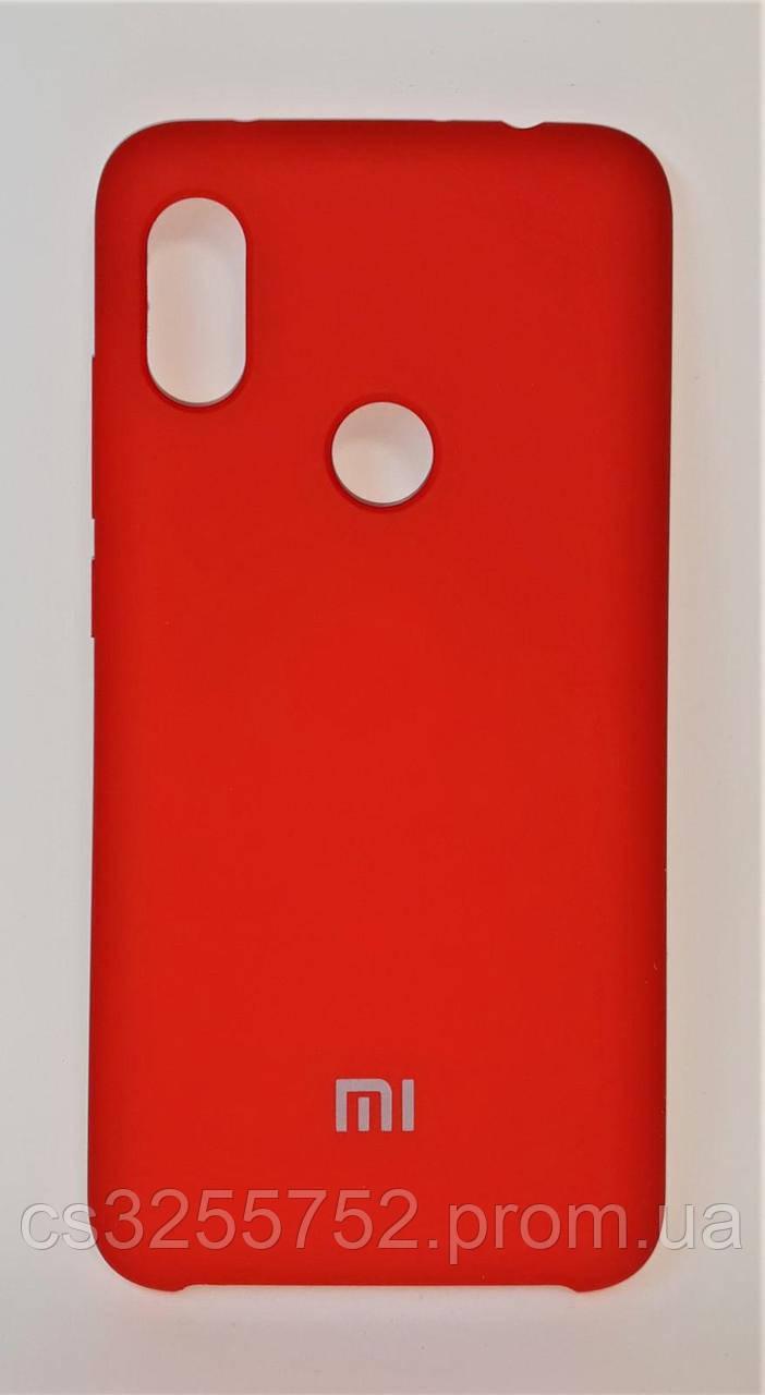 Силиконовая чехол-накладка для смартфона Xiaomi Redmi Note 6 Pro. Red