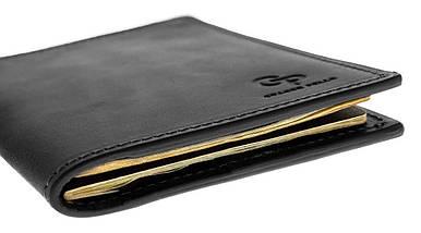 Кожаная черная обложка для паспорта Grande Pelle (204110), фото 3