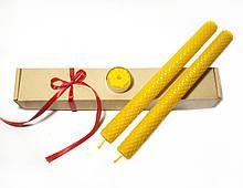 Набір свічок з вощини (жовті свічки із вощини)