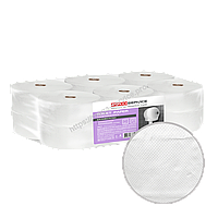 Туалетная бумага джамбо из восстановленной целлюлозы eco 2х-слойная 125 м 12 шт/уп PRO Service Comfort