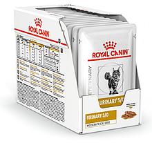 Влажный корм для кошек с мочекаменной болезнью Royal Canin Urinary S/O Feline Moderate Calorie блок 85 г*12 шт