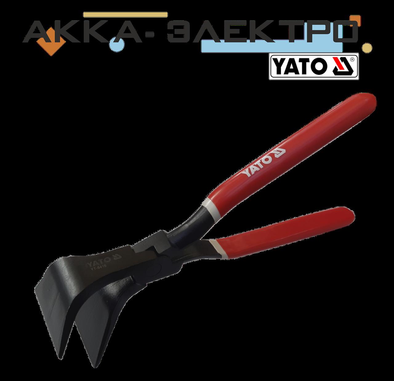 Клещи кровельные изогнутые 280мм для гибки листового металла Yato YT-5416