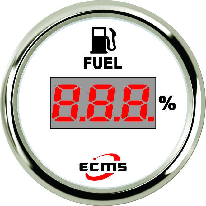 Цифровой указатель уровня топлива ECMS CEF2-WS-240-33 белый