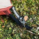 Двухслойная, сверхлегкая, 2-х местная палатка с алюминиевыми дугами и силиконовым тентом, зеленая., фото 5