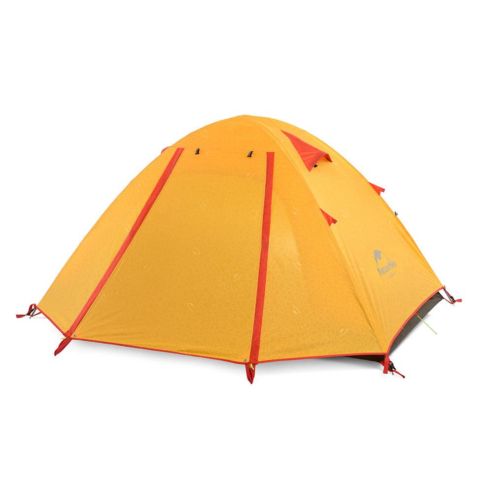 Двухслойная, 4-х местная палатка с алюминиевыми дугами, P-Series, оранжевая.