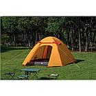 Двухслойная, 4-х местная палатка с алюминиевыми дугами, P-Series, оранжевая., фото 3