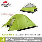 Двухслойная, сверхлегкая, 3-х местная палатка с алюминиевыми дугами и силиконовым тентом, зеленая., фото 4