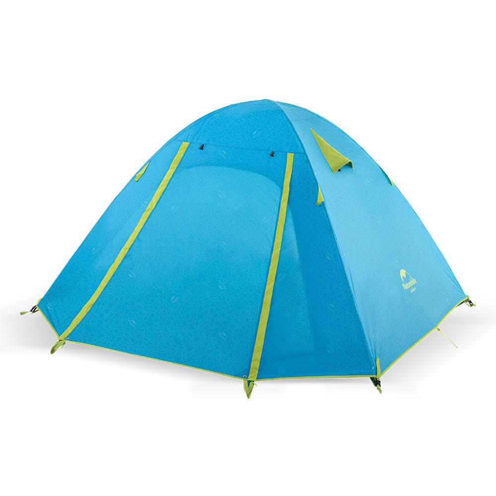 Двухслойная, 3-х местная палатка с алюминиевыми дугами, P-Series, синяя.