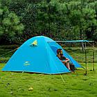 Двухслойная, 3-х местная палатка с алюминиевыми дугами, P-Series, синяя., фото 3