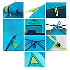 Двухслойная, 3-х местная палатка с алюминиевыми дугами, P-Series, синяя., фото 6