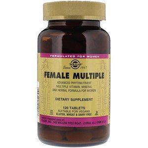"""Мультивитамины и минералы для женщин, SOLGAR """"Female Multiple"""" (120 таблеток)"""