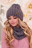 Комплект «Лорис» (шапка и шарф-хомут) (темно-серый) Braxton