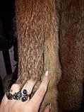 Жилет лиса красная жилетка из натуральной лисы 46 48 размер кокетка, фото 5