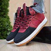 Мужские кроссовки в стиле Nike Lunar Force 1 Duckboot 16' Burgundy