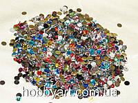 Стразы 4мм (500шт) акрил, неклеевые, цветное асорти