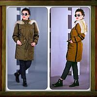 Куртка женская зимняя парка (молодежная) теплая на флисе