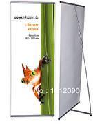 Мобильный L стенд для баннеров, демонстрационный дисплей 200х80см б/у