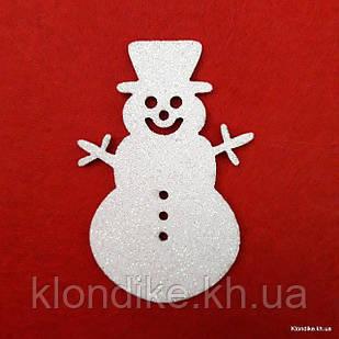 Снеговик из фоамирана, 7×4 см, Цвет: Белый (5 шт./уп.)