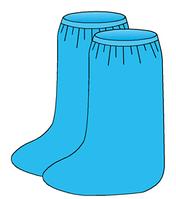 Бахилы высокие влагонепроницаемые на резинке, пл.45 г/м2