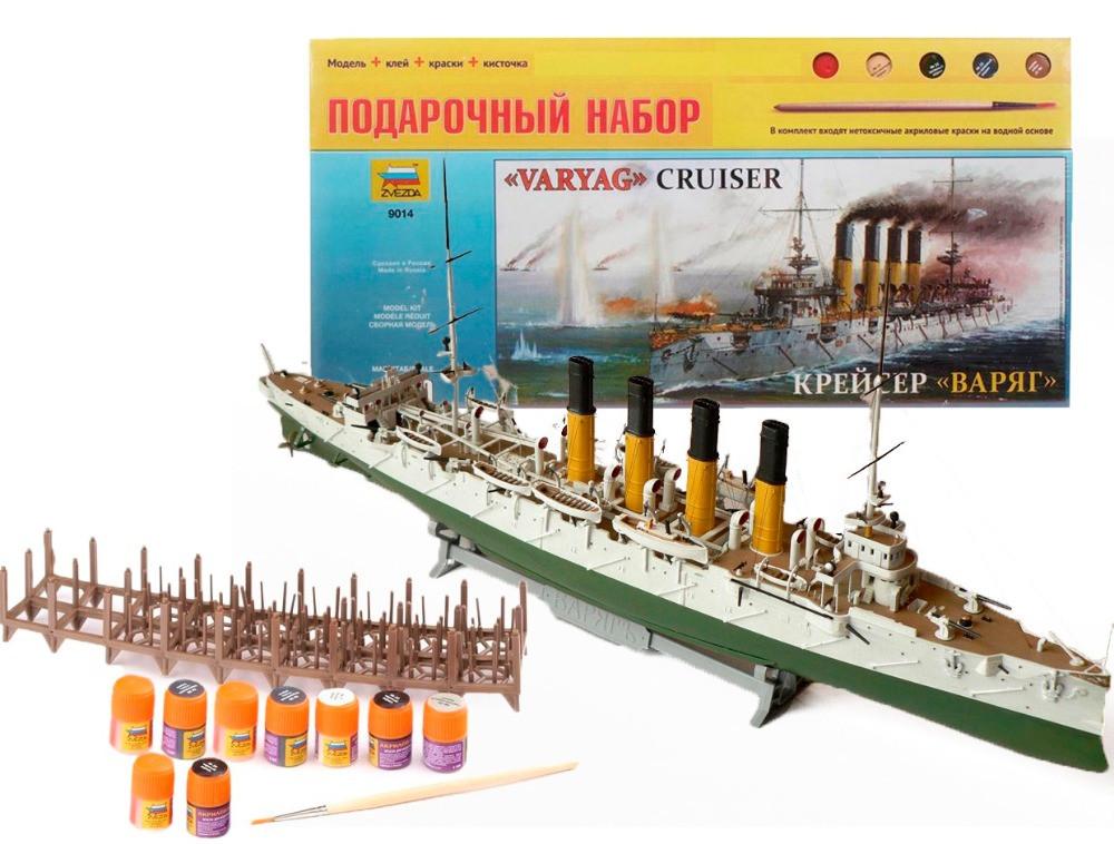 Набор сборная модель военного корабля Крейсер Варяг (1:350), арт. 9014
