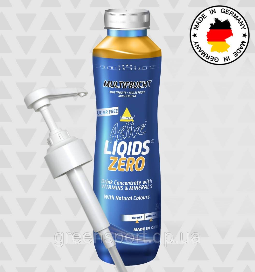 Изотоник Inkospor Active Liqids Zero Мультифрукты (500 мл) с дозатором