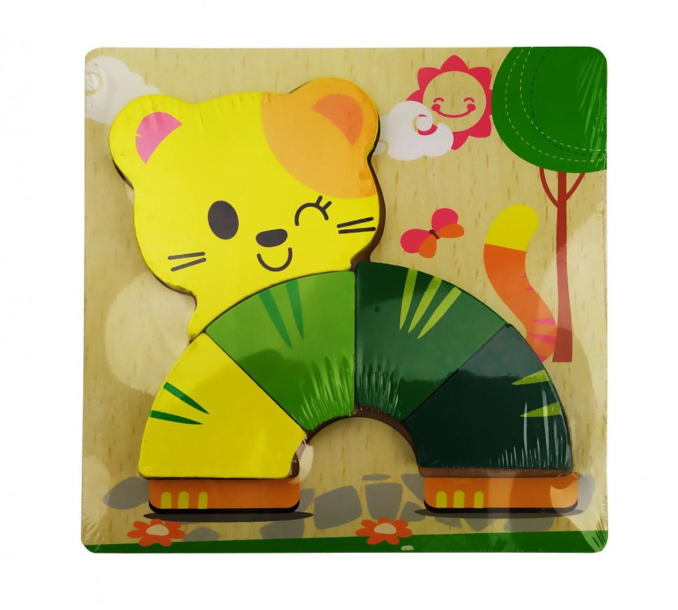 Деревянная игрушка Пазлы MD 0904 (Кот)