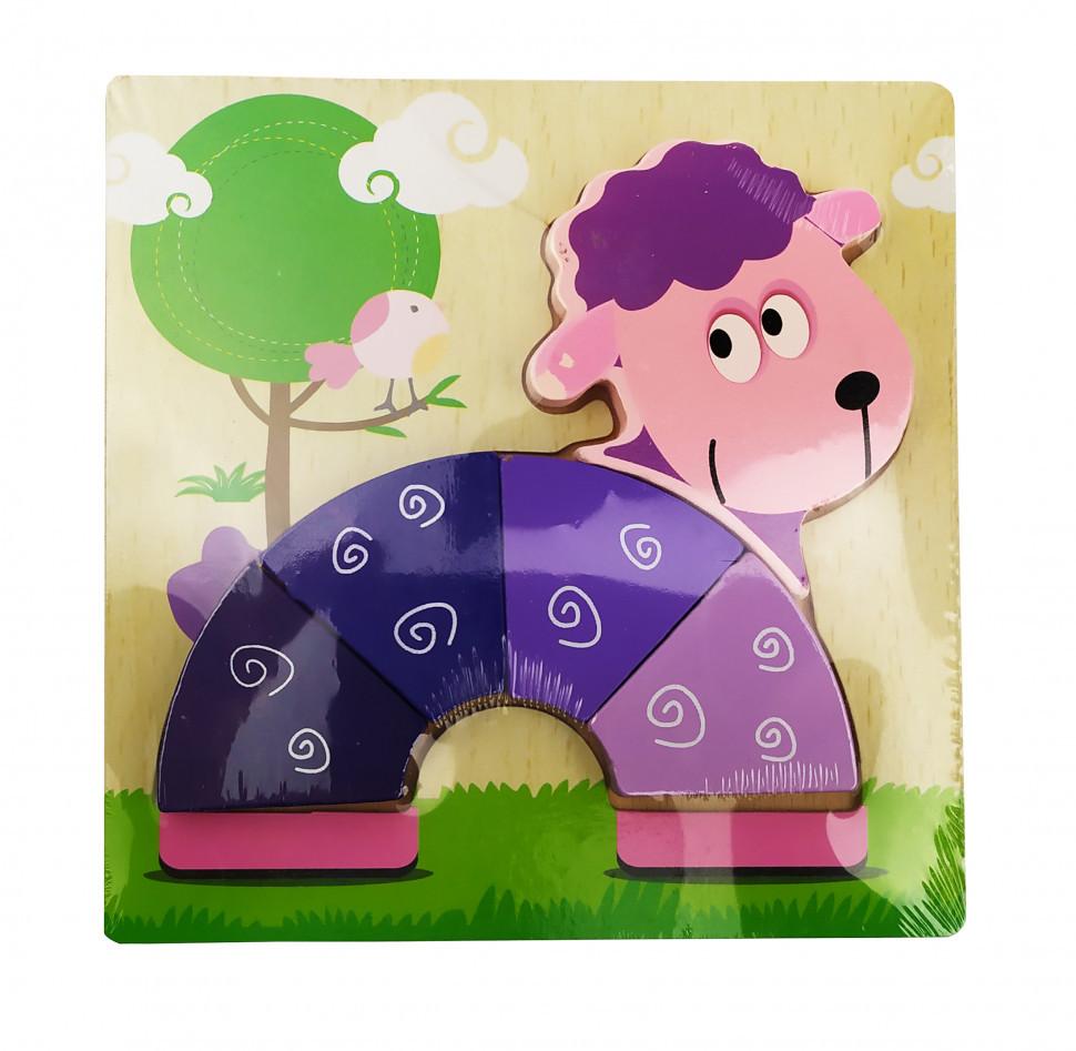 Деревянная игрушка Пазлы MD 0904 (Овечка)