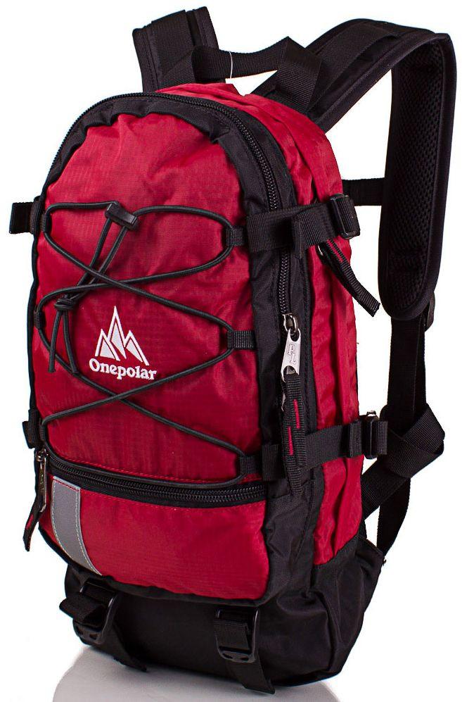 Вело-рюкзак 15 л Onepolar красный — только качественная продукция от SuperSumka