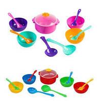 """Набор посуды столов. """"Ромашка"""" 12дет., 2 вида (пастель, стандарт), в сетке 15*10см, ТМ Wader (50шт) (39143)"""