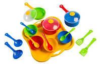"""Набор посуды столовый """"Ромашка"""" 19эл., в сетке 30*28см (стандарт), ТМ Wader (39146)"""