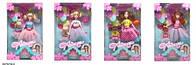 """Кукла типа """"Барби"""", 4 вида, с куколкой, короной и фигуркой """"num noms"""", в кор. 33*22*7см (48шт/2) (A277)"""