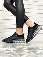 Женские кроссовки Alexander McQueen Black, чёрные. Размеры (36,37,38,39,40)