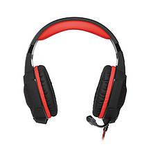 Игровые наушники с микрофоном SVEN AP-U988MV Black-Red, игровая гарнитура, фото 3