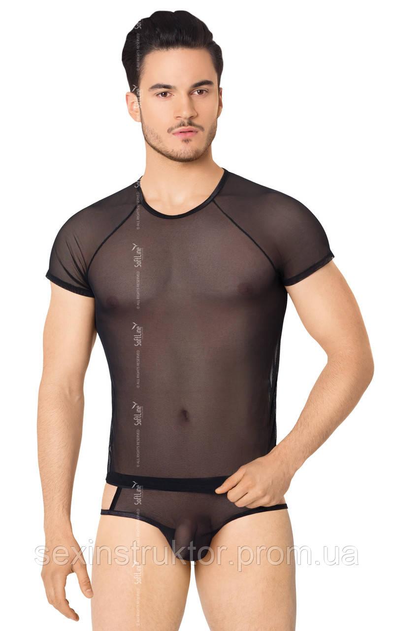 Эротическая майка - Shirt and Shorts 4607 - black {}