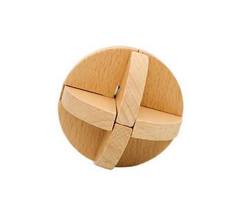 Деревянная мини Головоломка MD 2056 (Узловой мяч MD 2056-2)