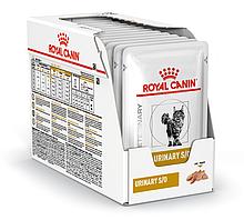 Вологий корм для кішок з сечокам'яною хворобою Royal Canin Urinary S/O паштет блок 85 г*12 шт.