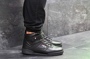 Высокие зимние мужские кроссовки Fila,черные,44р, фото 3