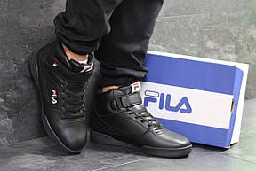 Высокие зимние мужские кроссовки Fila,черные,44р, фото 2