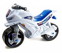 Беговел Мотоцикл 2-х колесный музыкальный 501W Белый